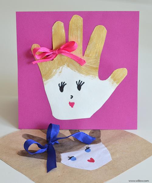Открытка для мамы сделана своими руками