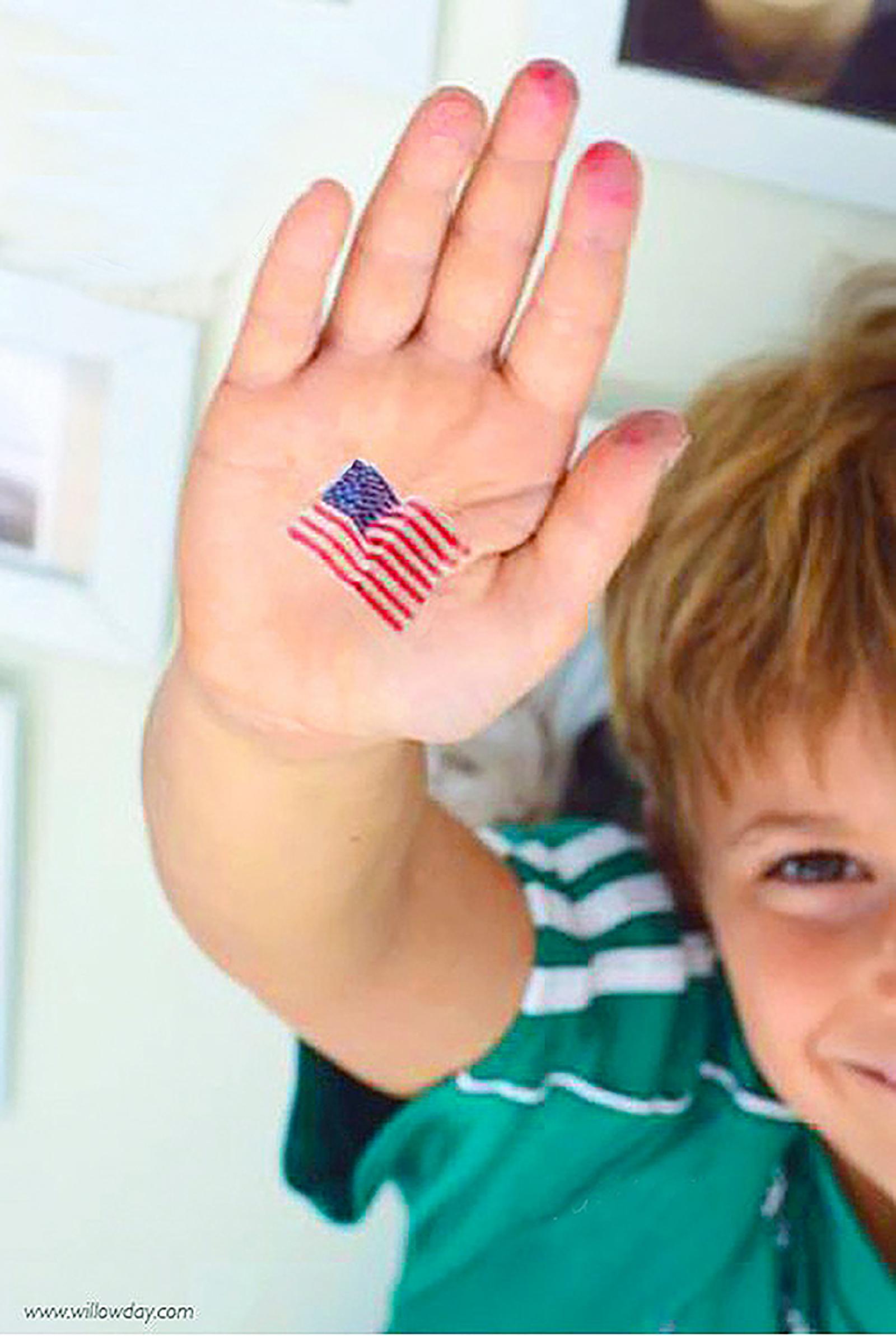 printable flag tattoo willowday