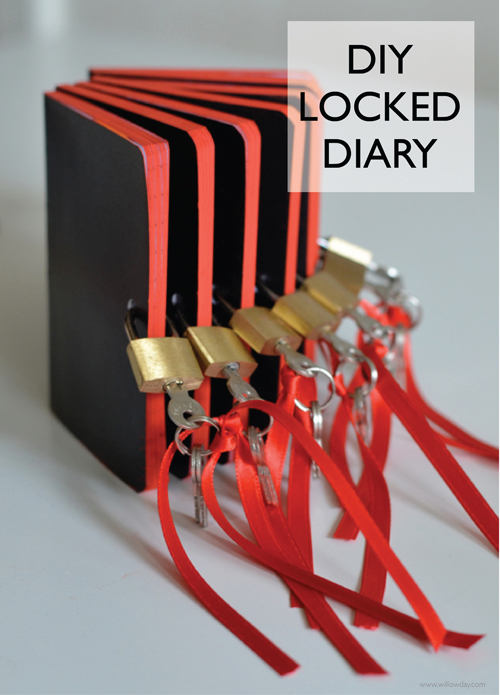how to make a diy diary with lock
