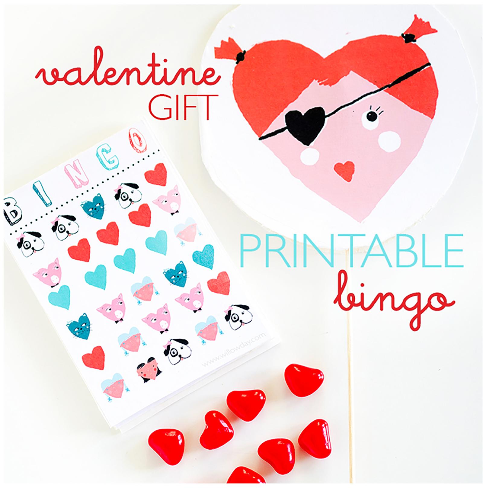 Valentine bookmark to color - Printable Valentine Day Bingo Here
